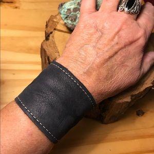 Jewelry - Black Leather Cuff